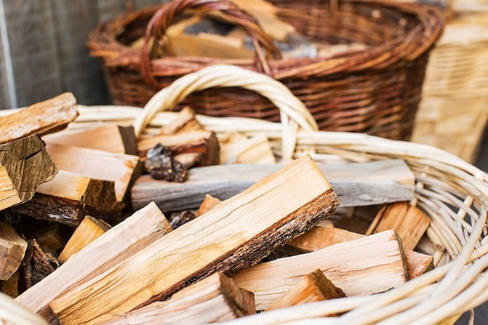 Kindling wood for campfire