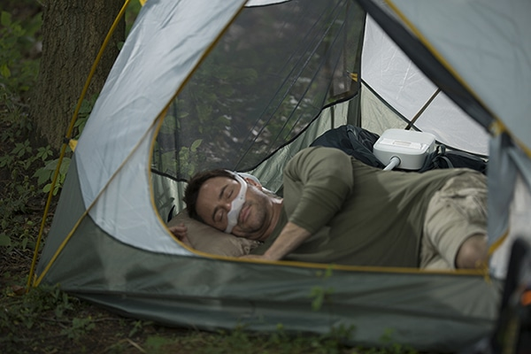 how to power CPAP machine while camping